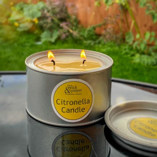 2 for £15 Citronella Garden Candle Tins