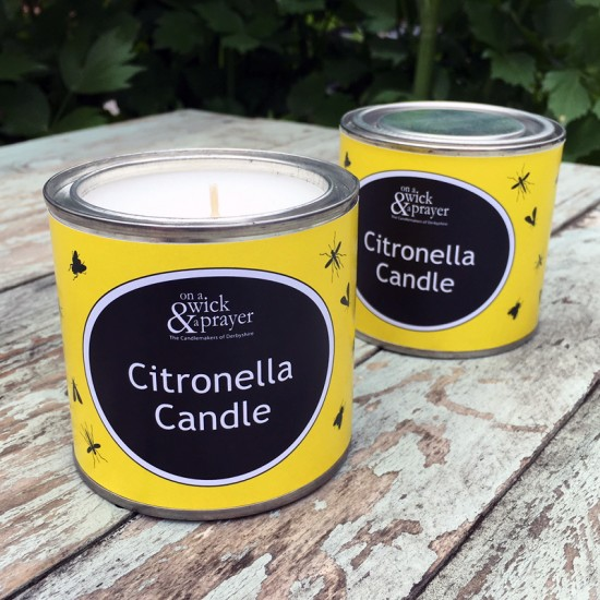 2 for £15 Citronella Garden Candle Tins