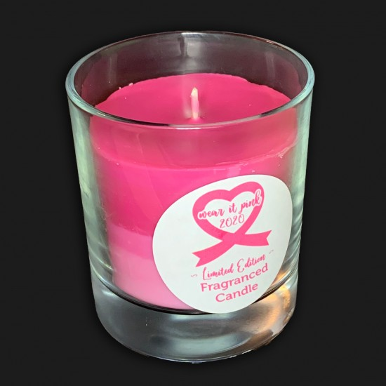 Breast Cancer Charity Candle