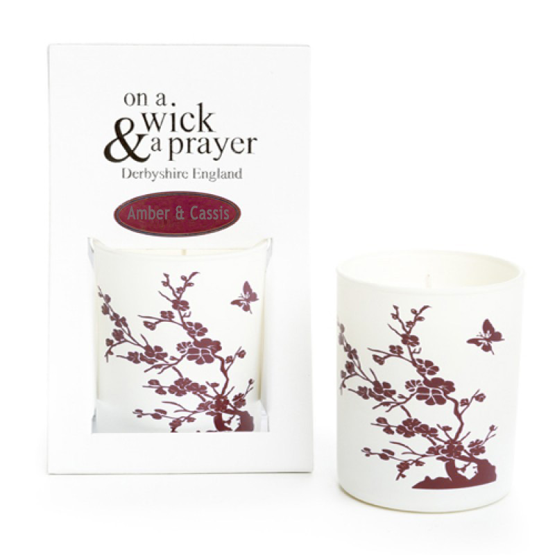 China Garden 2015 - Amber & Cassis Scented Candle
