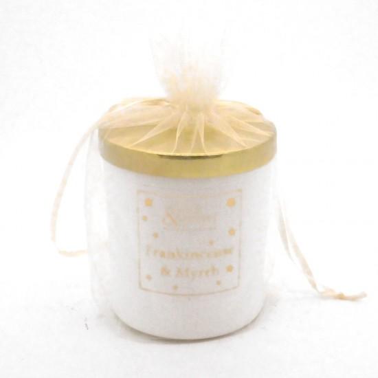 Frankincense & Myrrh Candle 30cl in White