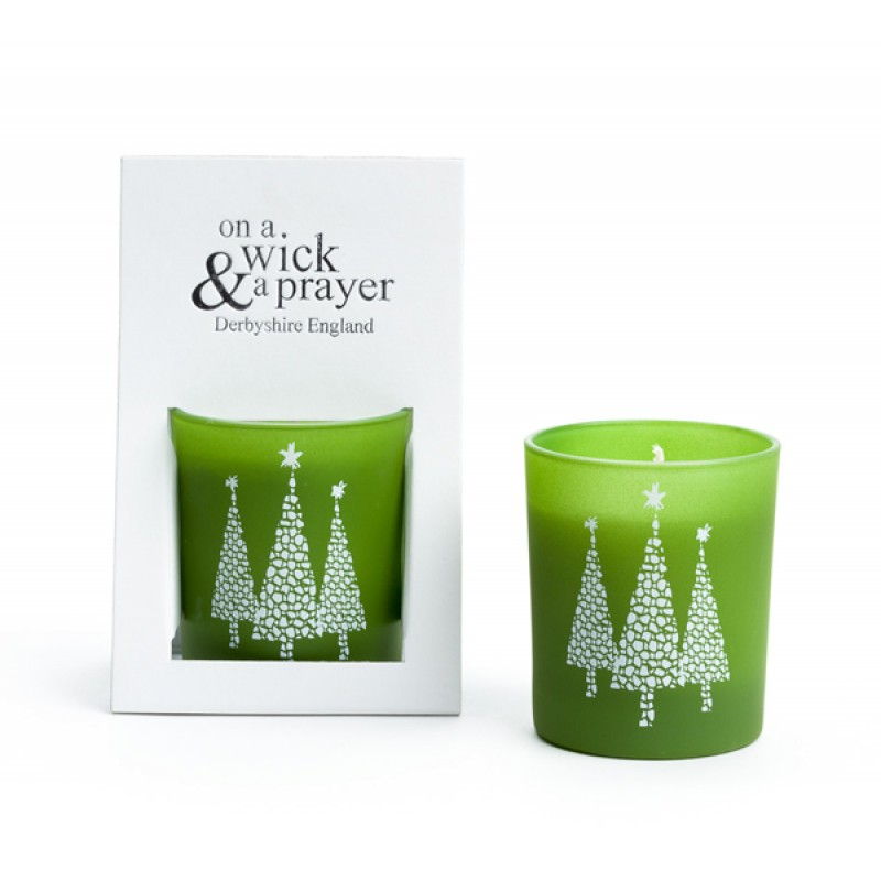 2 for £15 Christmas Tree Motif Candles 20cl