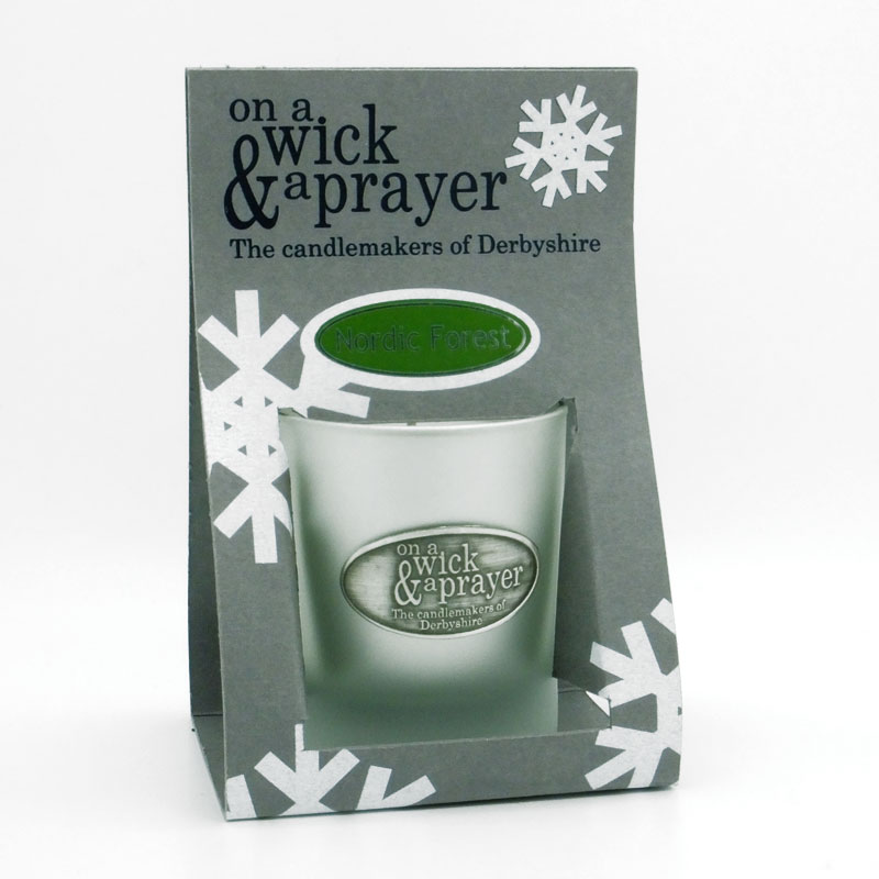 Christmas Snowflake Design Candles 20cl