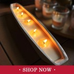 Christmas Ceramic Trough Candles