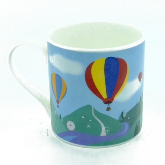 Dovedale Balloons Bone China Mug