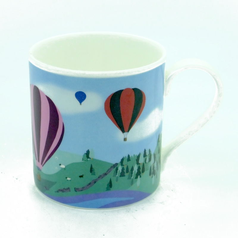 Dovedale Balloons Bone China Mug