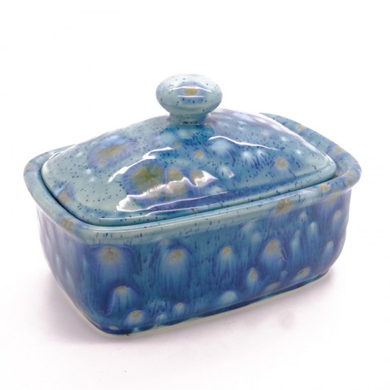Butter Dish in Mermaid Blue