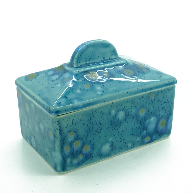 Butter Dish (old shape) in Mermaid Blue
