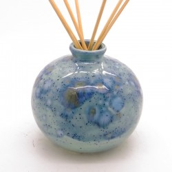 Reed Diffuser - Round Vase in Mermaid Blue