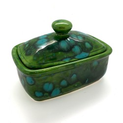 Butter Dish in Lava Green