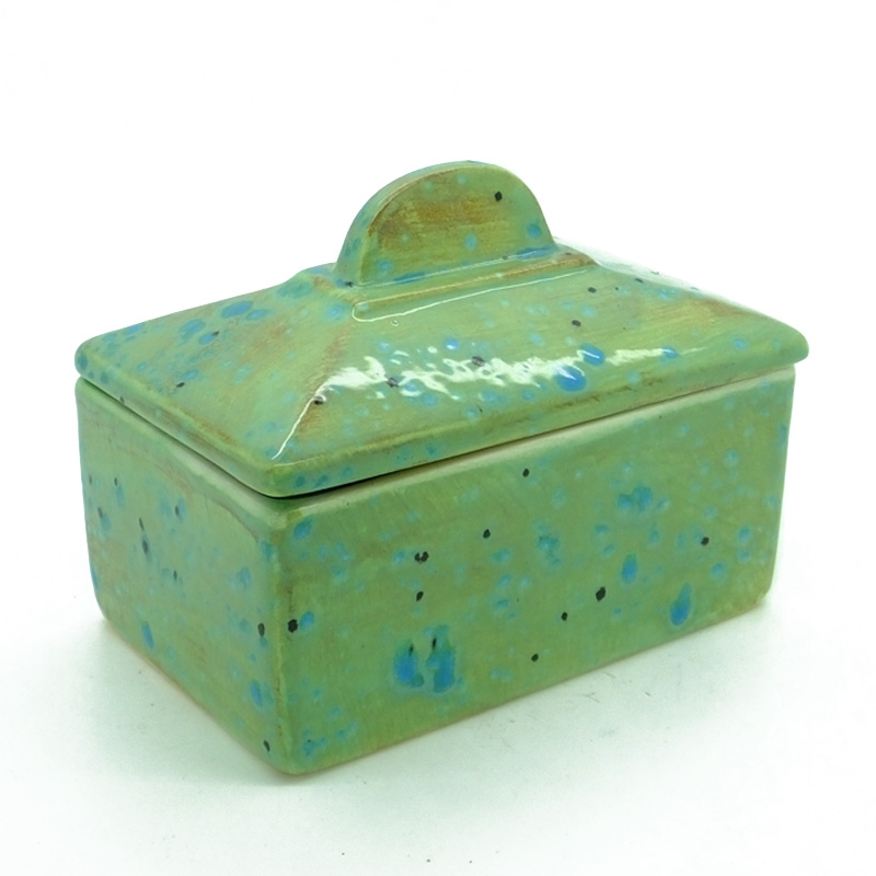 Butter Dish (old shape) in Green Ripple