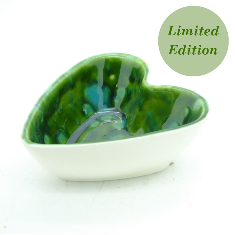 Limited Edition - Dovedale Ceramics Green Lava Heart Dish