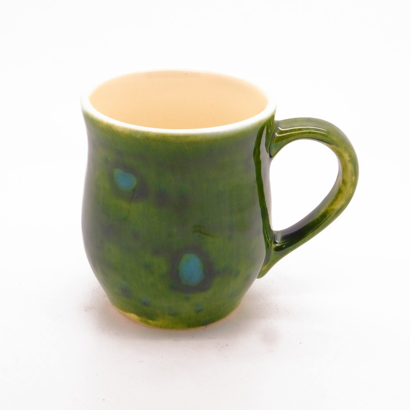 Dovedale Barrel Mug in Lava Green