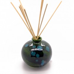 Reed Diffuser - Round Vase in Lava Green
