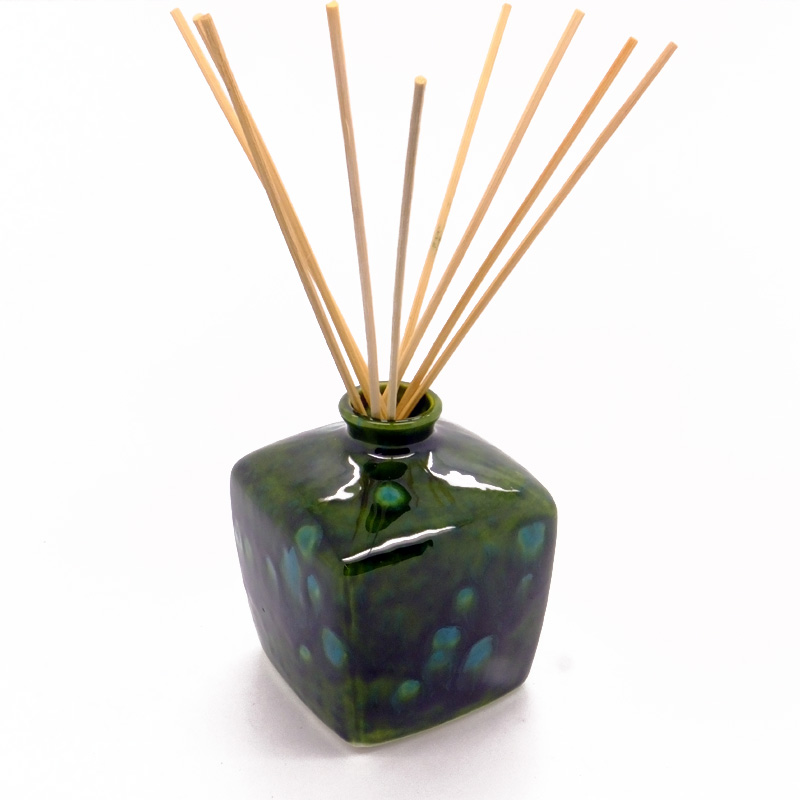 Reed Diffuser Square Vase Green