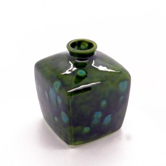 Reed Diffuser - Square Vase in Lava Green