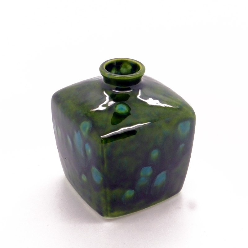 Reed Diffuser - Square Vase in Lava Green