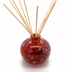 Reed Diffuser - Bud Vase in Lava Red