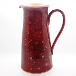 Wine Jug in Lava Red