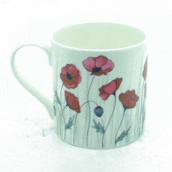 Poppy Bone China Mug