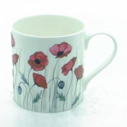 Poppy Bone China Mug