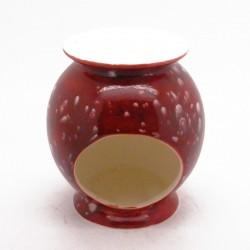 Ceramic Burner in Lava Red