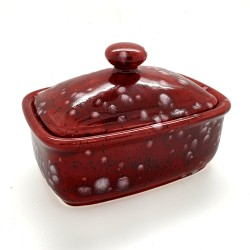 Butter Dish in Lava Red