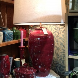 Table Lamp in Lava Red