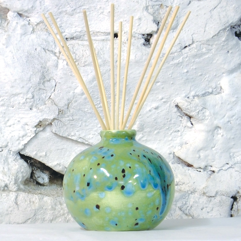 Reed Diffuser - Bud Vase in Green Ripple