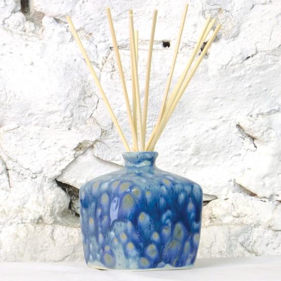 Reed Diffuser - Square Vase in Mermaid Blue