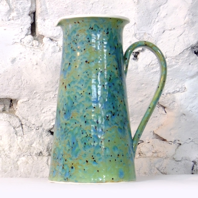 Wine Jug in Green Ripple