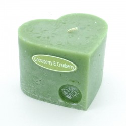 Gooseberry and Cranberry Heart Candle