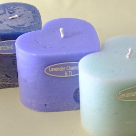 Heart Pillar Candles