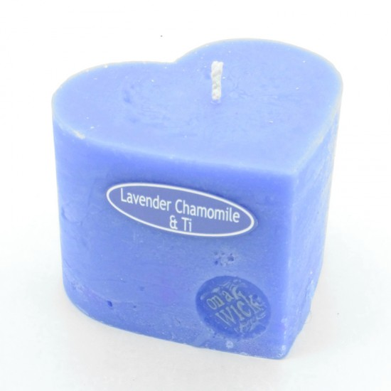 Lavender Chamomile and Ti Tree Heart Candle