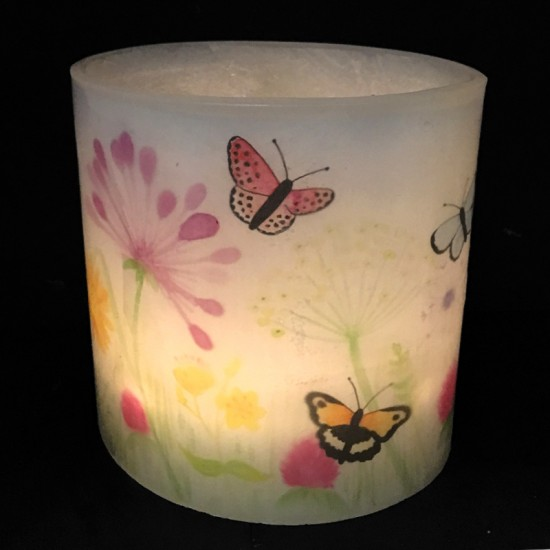 Butterfly Meadow Hurricane Candle