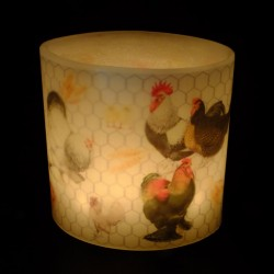 Chicken Run Hurricane Candle