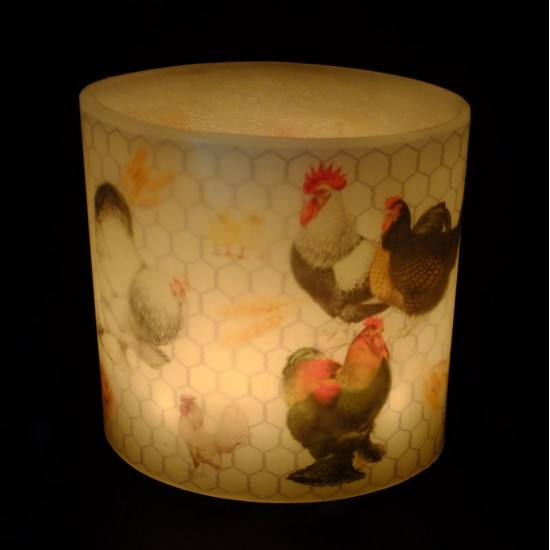 Chicken Run Hurricane Candle