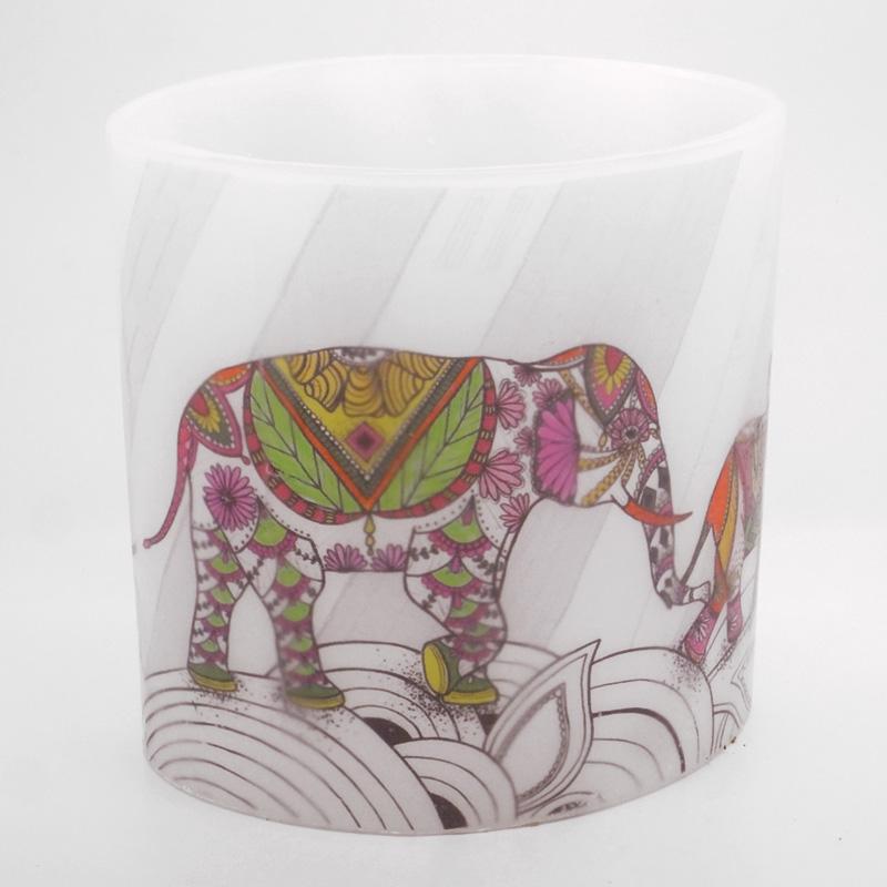 2018 Coloured Elephants Hurricane Candle