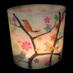 Funky Birds Hurricane Candle