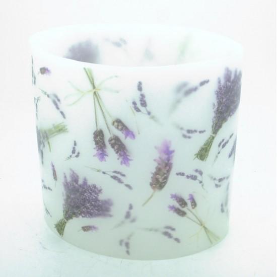 Lavender Hurricane candle