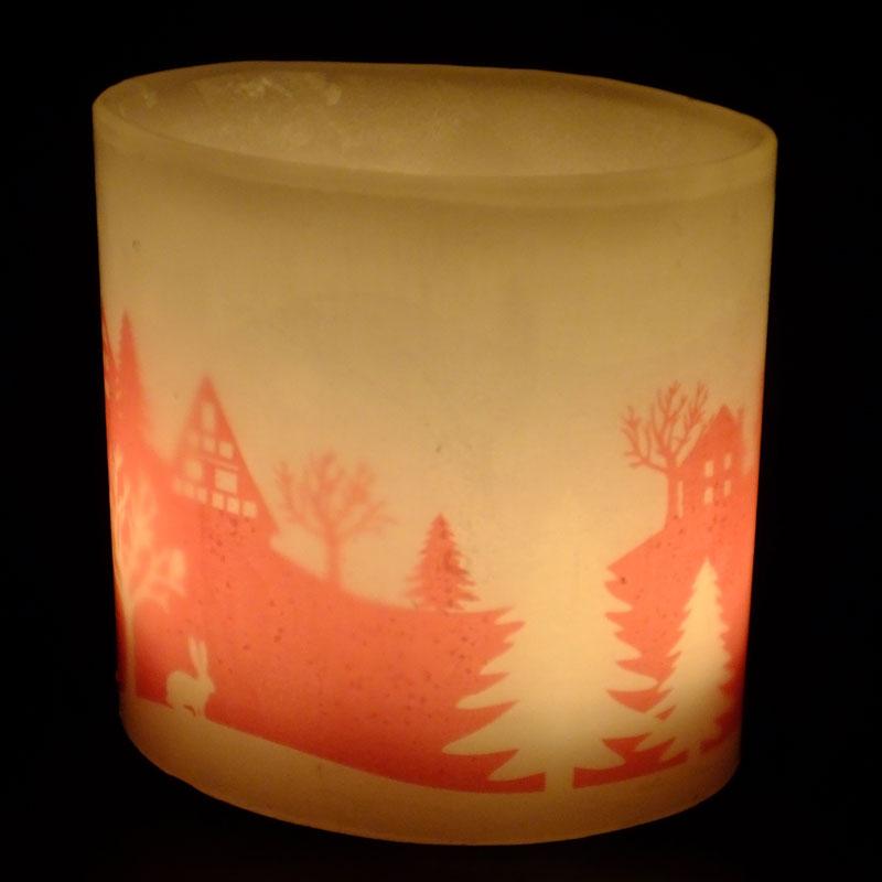 Scandinavian Village Hurricane Candle