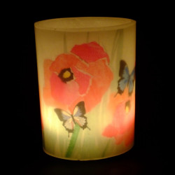 Poppies Hurricane Candle