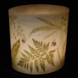 Fern and Bumblebee Hurricane Candle