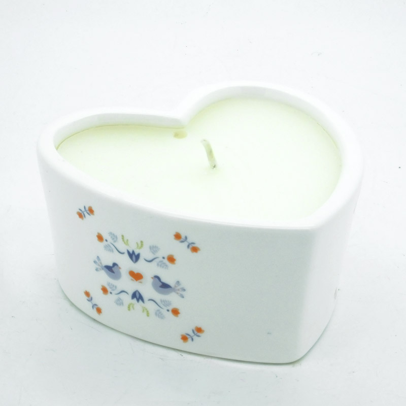 2 for £15 Hygge Ceramic Heart Candle