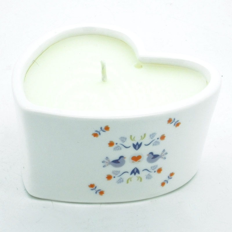 Hygge Ceramic Heart Candle