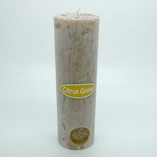 Citrus Grove Round Pillar Candles