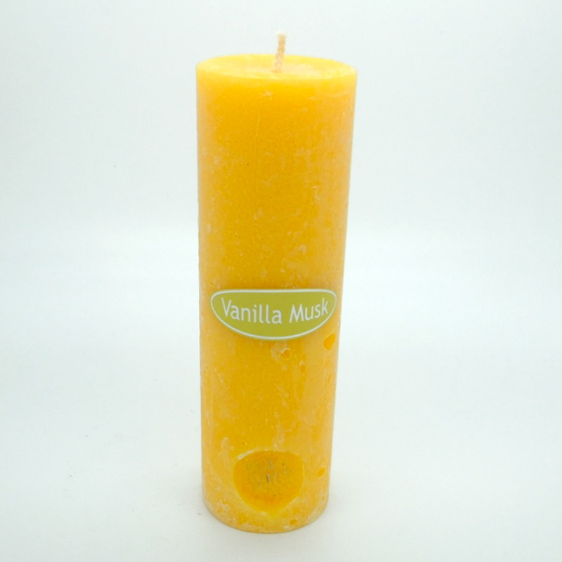 Vanilla Musk Round Pillar Candles