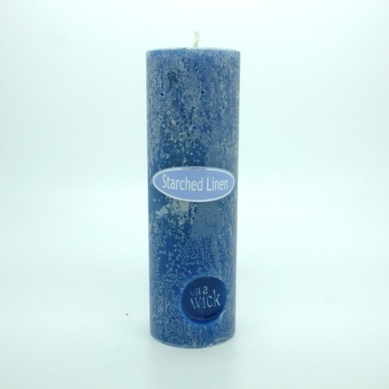 Starched Linen Round Pillar Candles