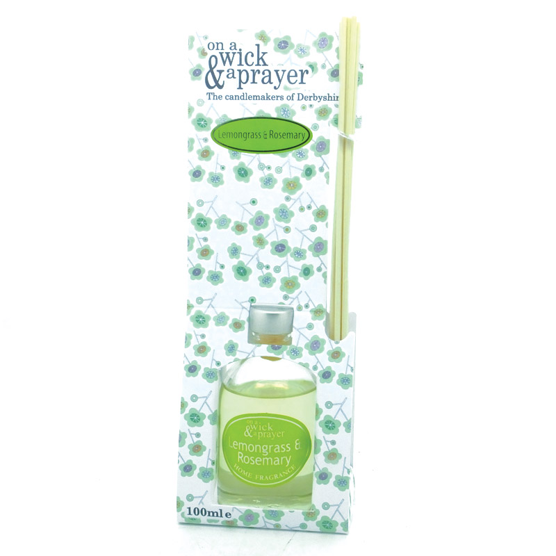 Lemongrass & Rosemary Scented Reed Diffuser