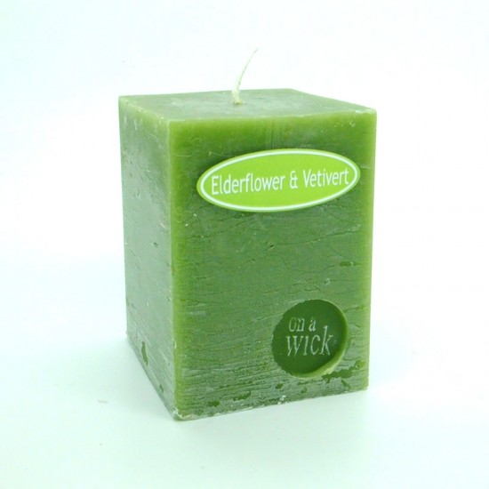 Elderflower and Vetivert Square Candles